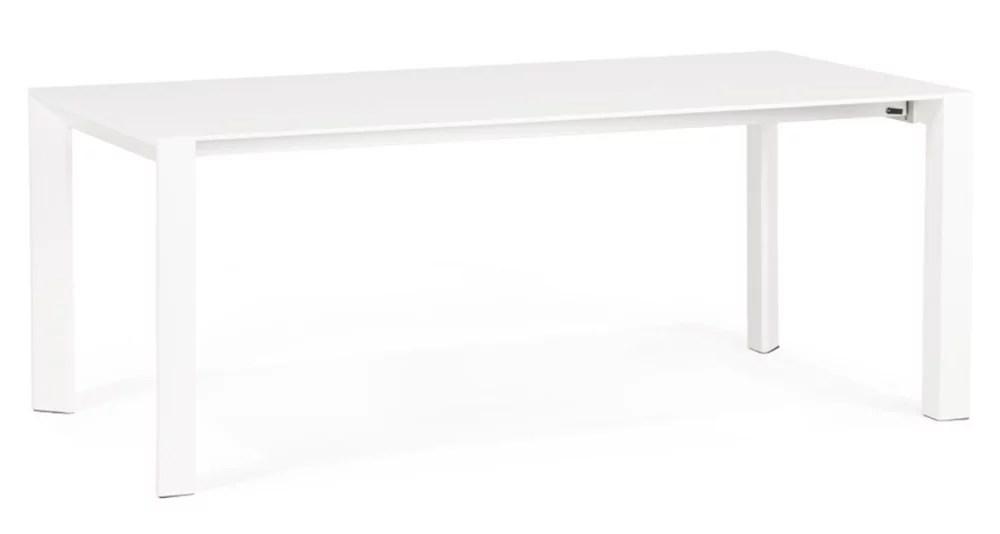 table xl a rallonges en bois blanc adonis