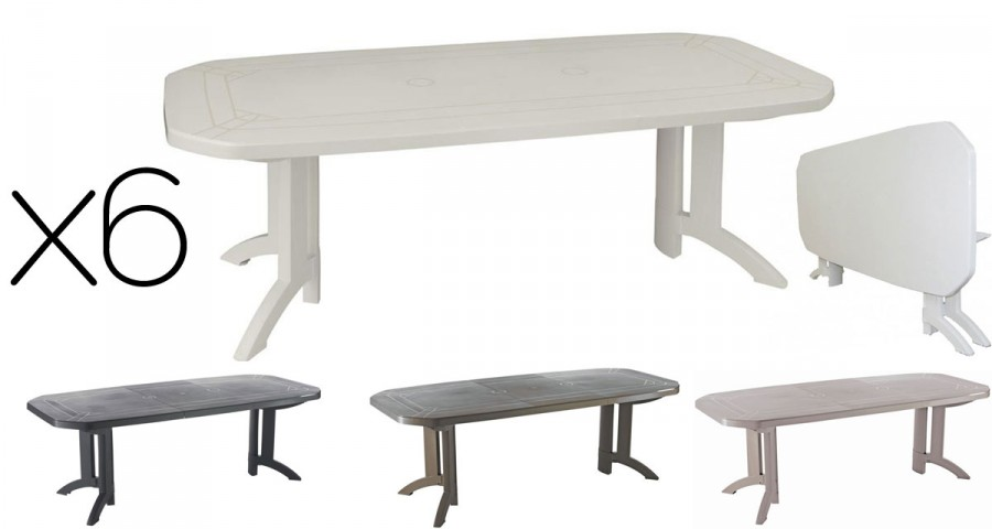 6 x table vega extensible 165 220 cm 4 coloris