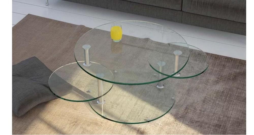 table basse 3 plateaux ronds pivotants millstreet 3 coloris