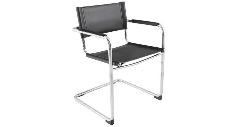 chaise d accueil bureau noire meredith