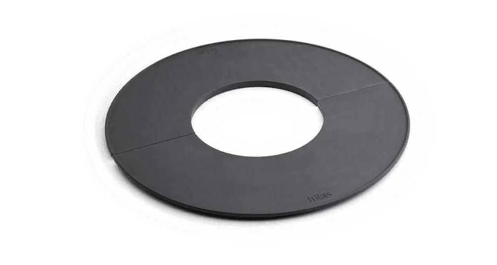 plaque en fonte semi anneau pour brasero bowl