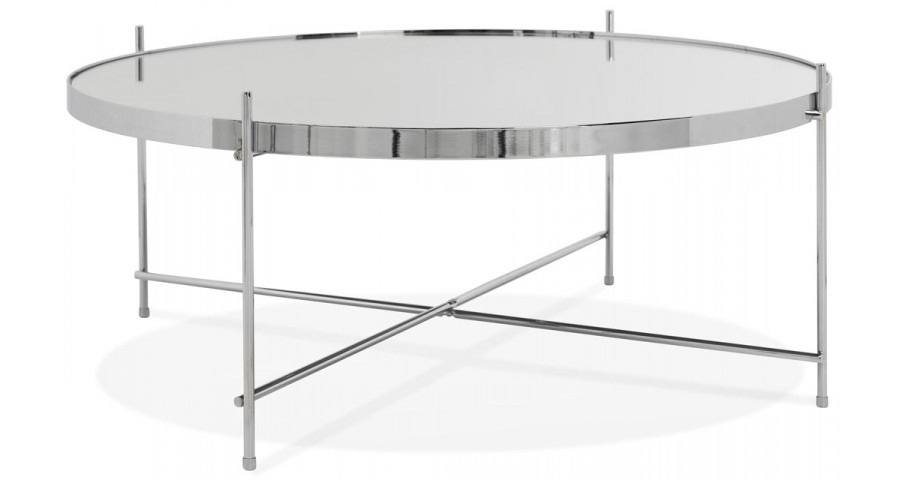 table basse ronde chic en chrome watch