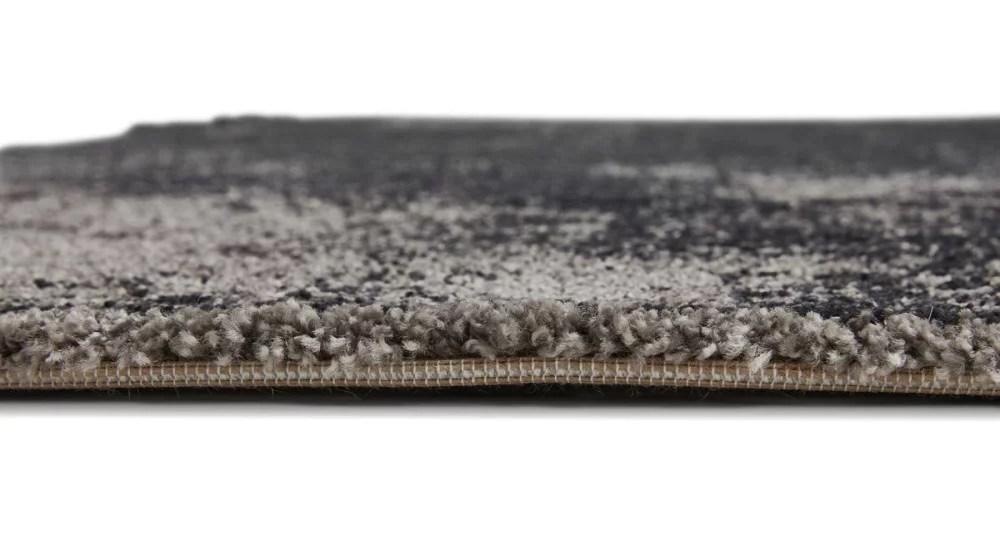 tapis 160 x 230 cm degrade noir et gris marbre