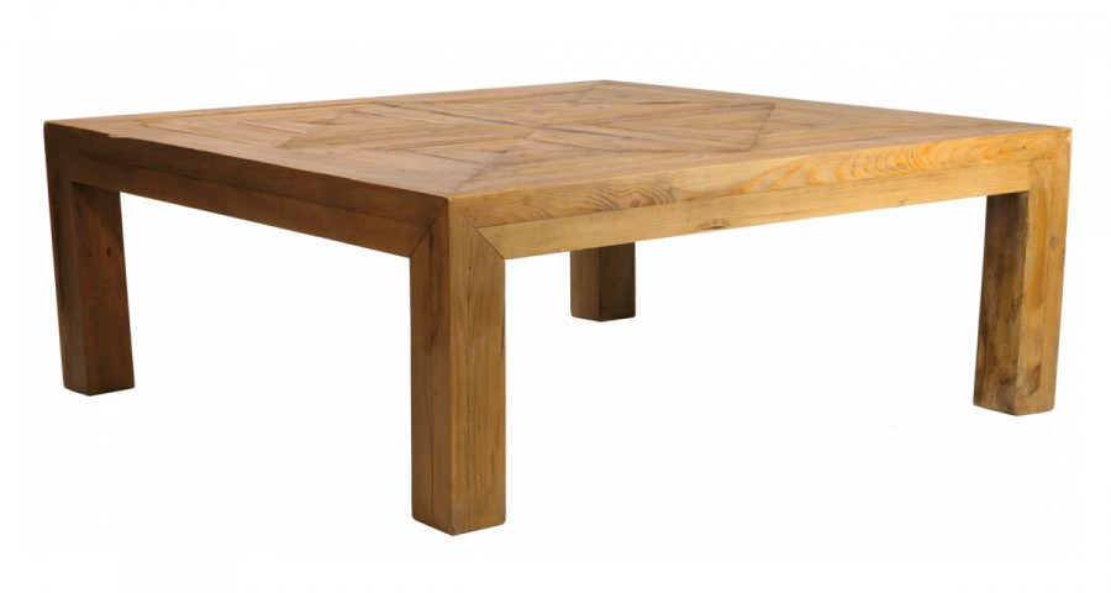 table carree 130 x 130 cm en bois meadview