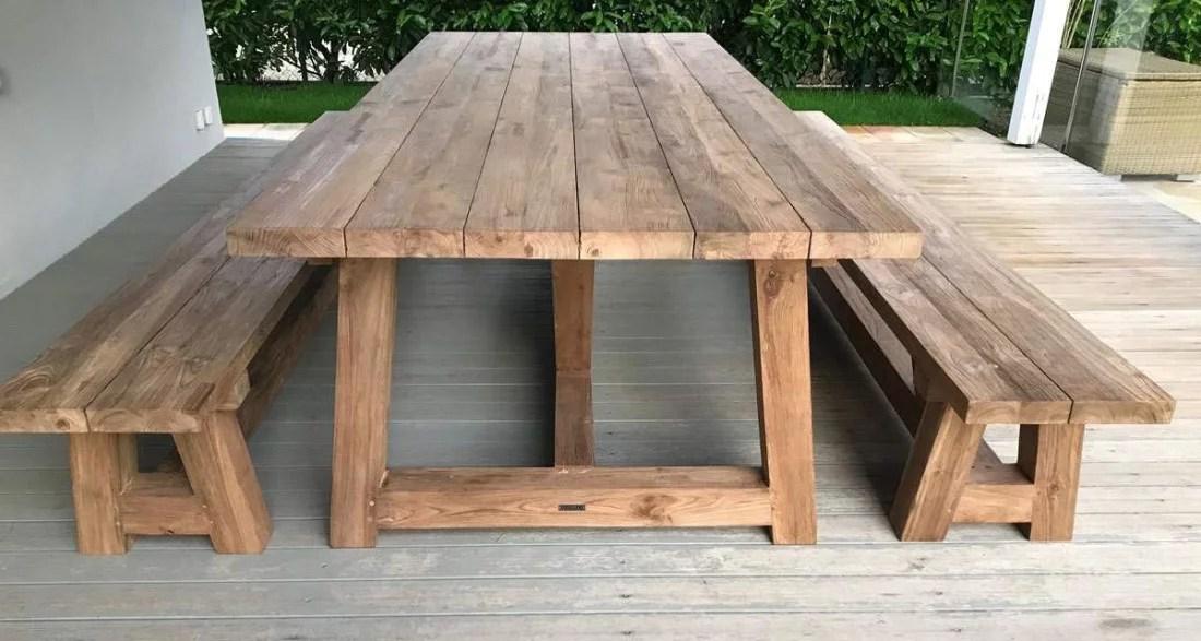 table de jardin campagnarde 300 cm en