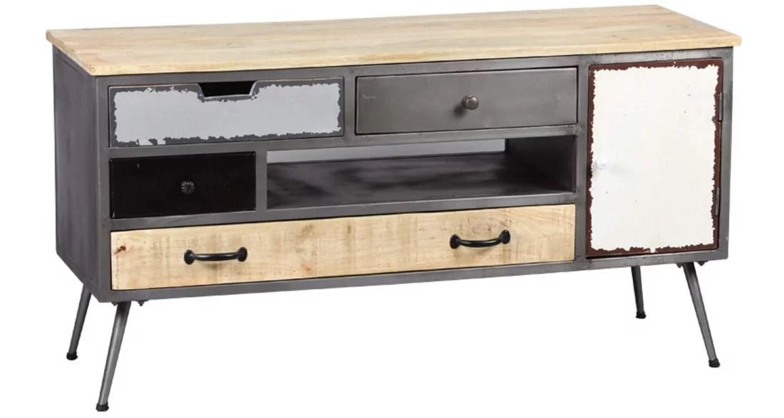 meuble tv industriel vintage faktory