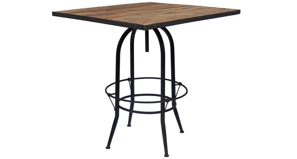 table de bar carree industrielle 90 cm littleton