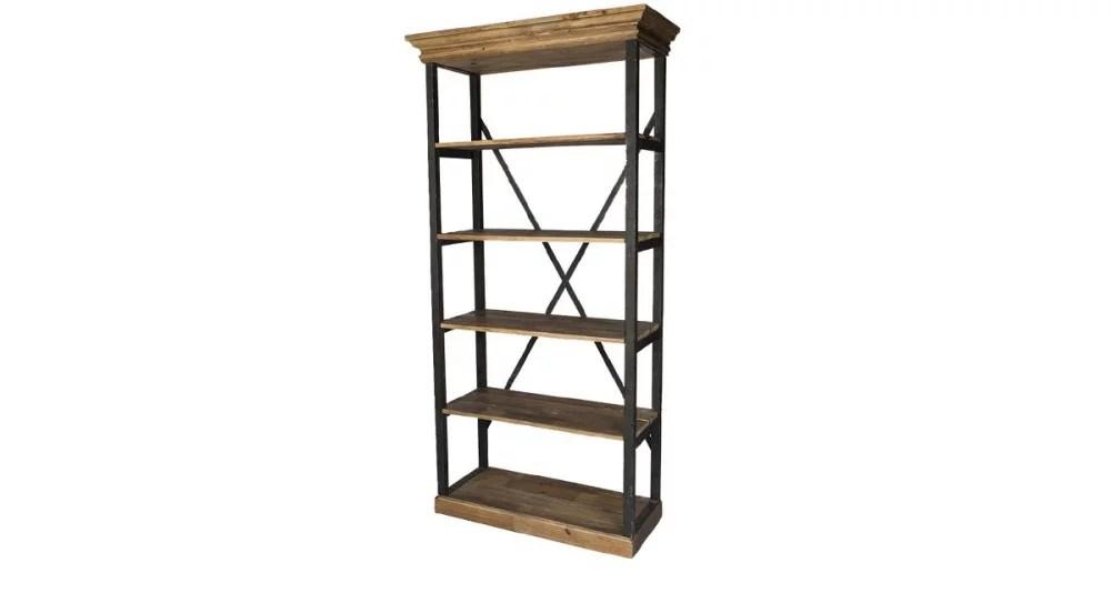 etagere en bois et fer 5 niveaux wilsford