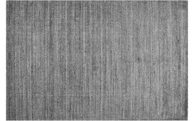 tapis stone tisse main en laine fibre de bambou gris 200x300
