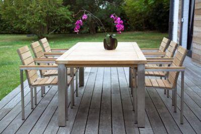 table de jardin teck inox bora