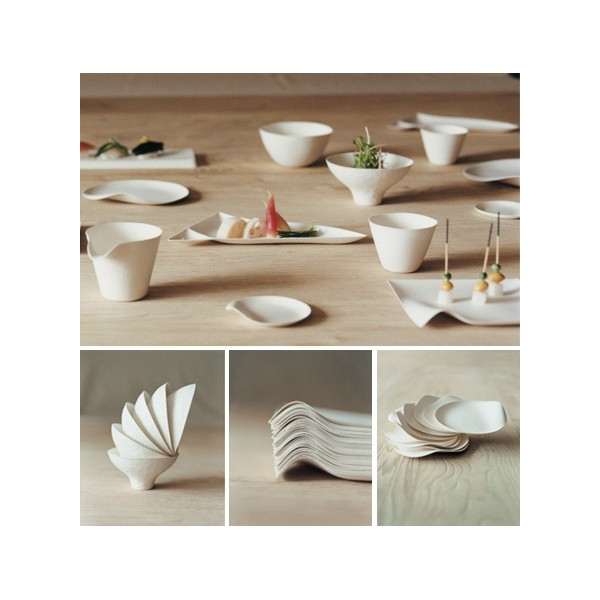 Assiette design : Le set d'assiettes carrées Kaku by Schinishiro Ogata