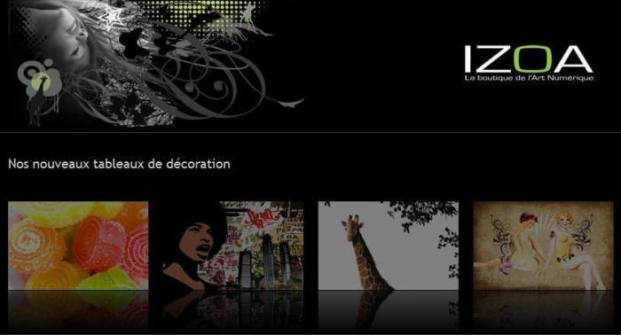 Izoa : des tableaux deco, design et contemporains