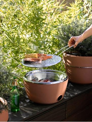 hot-pot bbq : barbecue et pot à fleur