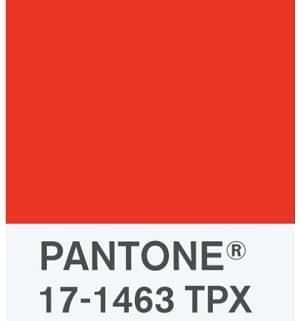 Pantone 17-1463 Tangerine Couleur de l'année 2012