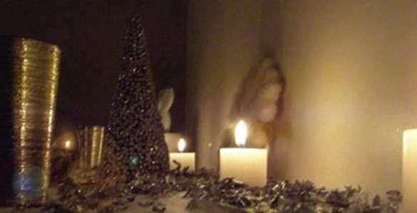 décoration de Noël blanc et argent