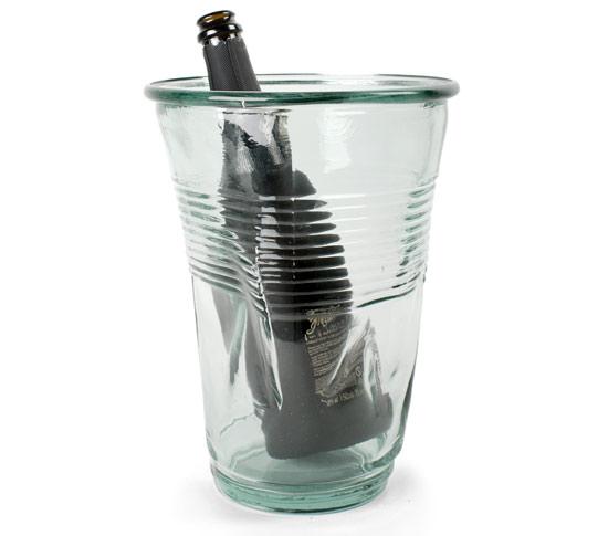Seau à glace design le seau à champagne XXLCrushed Glass