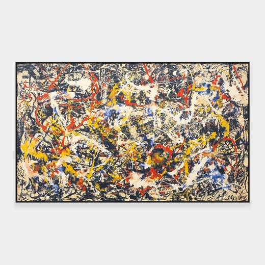 Deux tableaux tendances de Jackson Pollock et Jasper Johns