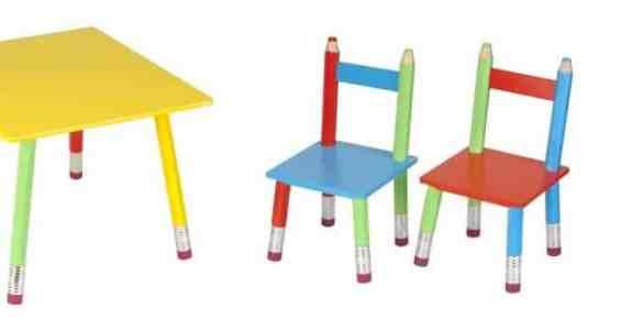 table chaises crayons la chaise longue