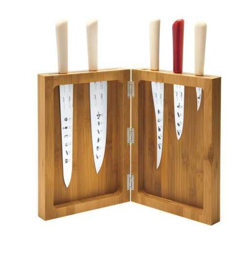Porte couteaux : la gamme de couteaux Tatau by Alessi