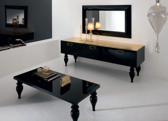 table basse laquée