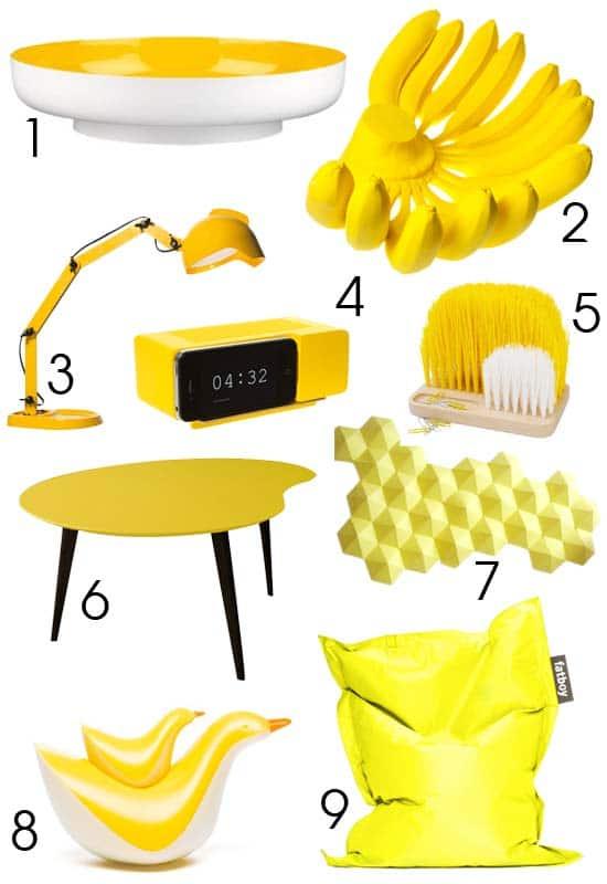 Déco colorée jaune