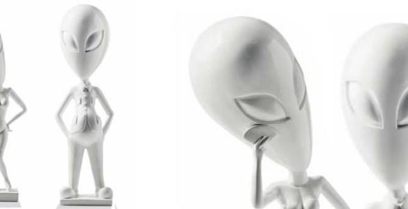 sculptures Monsieur et Madame Alien