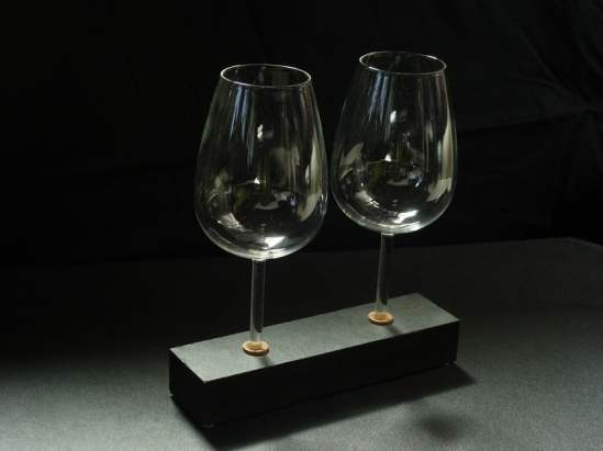 Les supports de verre à vin design Waterwinewine by Philippe Fournié