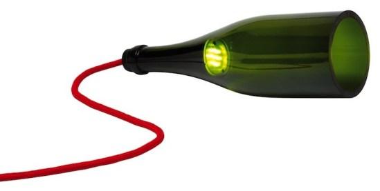 Bouteille torche lampe de table bouteille