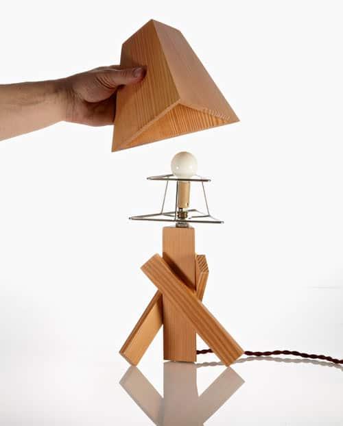 lampe bois Paul Loebach
