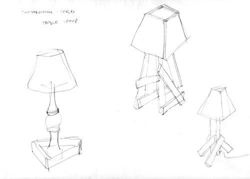 lampe design bois Paul Loebach