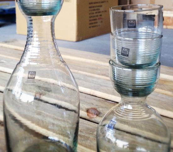 service carafe verres