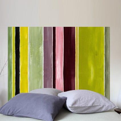 tête de lit colorée Mademoiselle Tiss