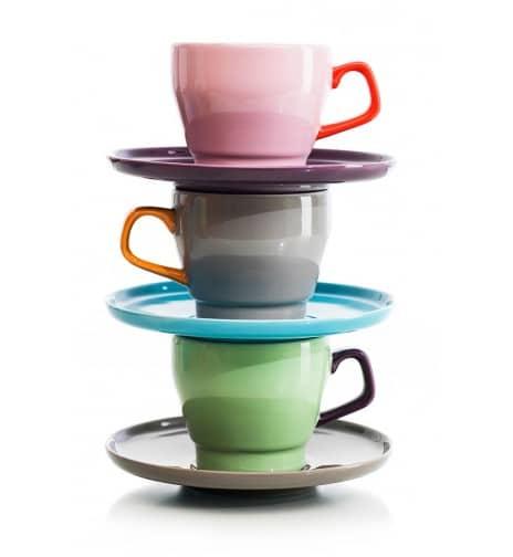Petit déjeuner design les tasses Pop de Ann-Carin Viktorsson