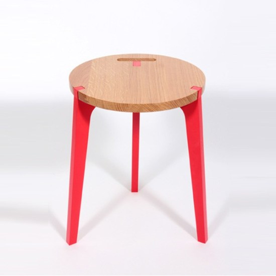 Tabouret design Canne de Jocelyn Deris