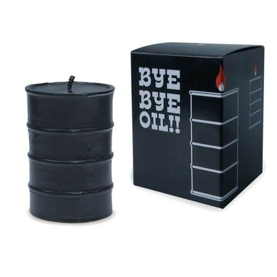 bougie Bye Bye Oil Drum Ariel Rojo
