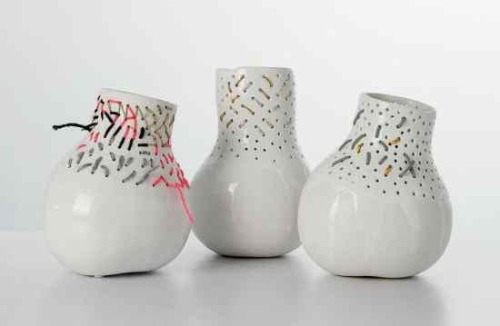 Vase Décoratif -Le vase Butternut Embroidery by Aurélie Mathigot