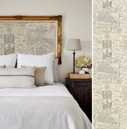 papier peint London Map Thibaut