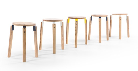 Tabouret design Dorso de James Uren