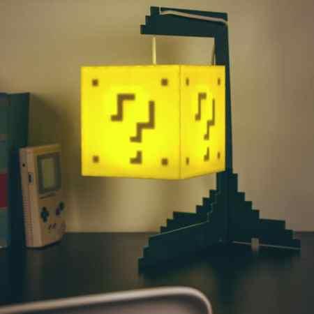 lustre intéractif bloc question Super Mario