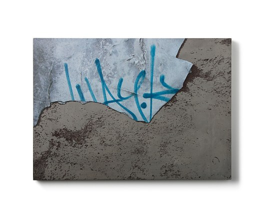 tableau beton graphiti