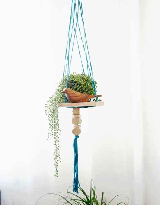Étagères design - La suspension/étagère pour plantes Trapilho1