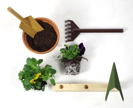 Internoitaliano set outils jardinage Orte Giulio Iacchetti