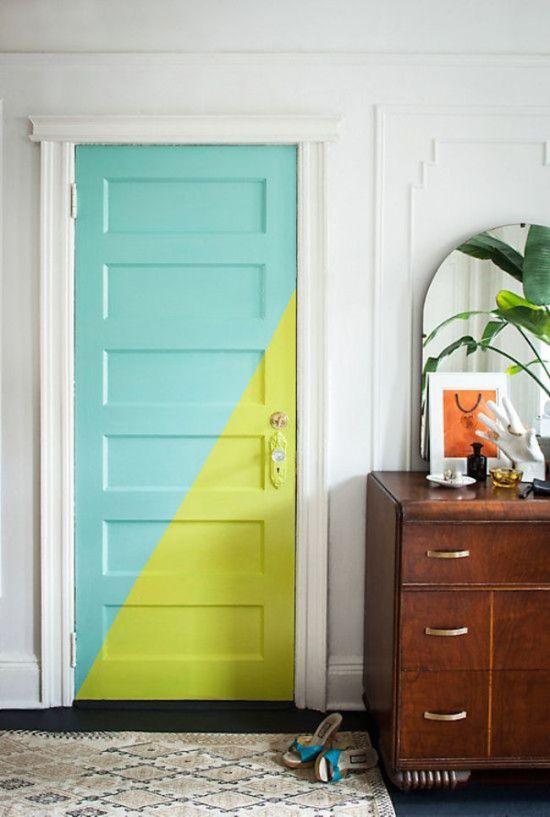 Idée déco pour chambre couleur porte