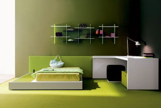 idee decor chambre enfant vert