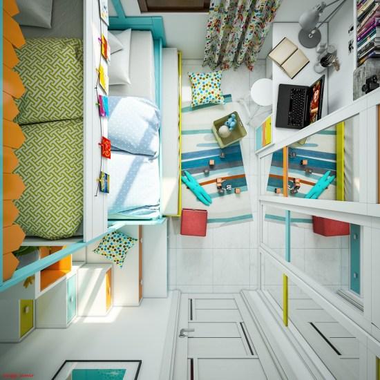 chambres d'enfant déco hyper colorées