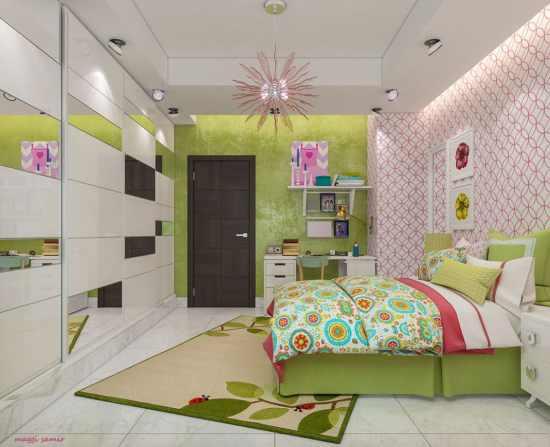 Une chambre à dominante rose