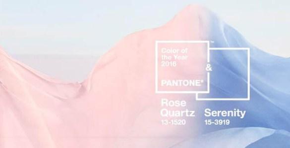 Couleur de l'année 2016 Rose Quartz et Serenity