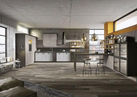 Snaidero cuisine loft urbain
