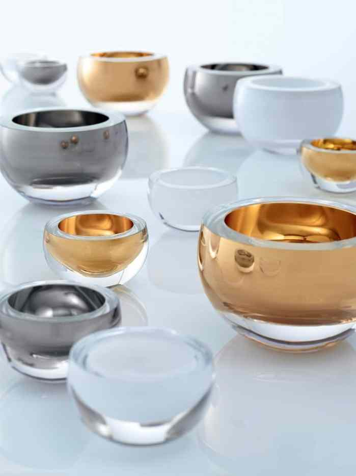 décorations en verre LSA International coupes Host