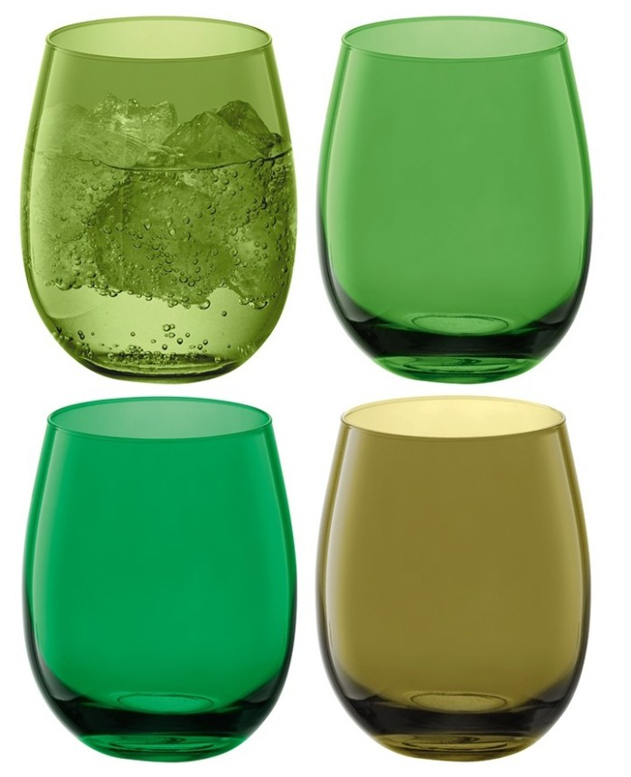 décorations en verre LSA International goblets coro bleu